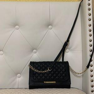 Beautiful black leather Steve Madden crossbody bag